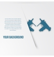 Abstact weapon template Flat icon vector image vector image