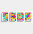 abstract color background set for creative design vector image vector image