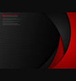 abstract technology gradient red and black vector image vector image