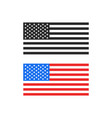 america flag color and black and white print vector image