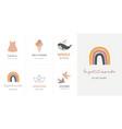 baby children little kids cards posters in vector image vector image
