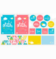 big cute set for baby birthday party vector image vector image