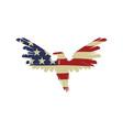 bird in american flag american eagle flag vector image vector image