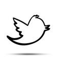 black tweet bird logo epstwitter icon vector image vector image