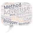 Bloggint For Profit text background wordcloud vector image vector image