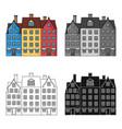 building single icon in cartoon stylebuilding vector image vector image