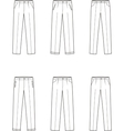 Business pants vector image