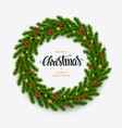 christmas fir background realistic look holiday vector image vector image