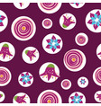 colorful abstract summer flowers on a dark vector image vector image