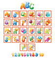 Colorful Alphabet for kids with pictures vector image vector image