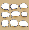 comic chat bubbles elements set vector image vector image