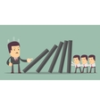 Concept of teamwork and corporate profit vector image