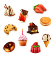 Confectionery set 1 vector image vector image