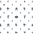 core icons pattern seamless white background vector image vector image