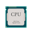 CPU Processor icon vector image