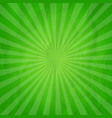 crumpled green sunburst background vector image
