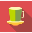 Cup of tea icon flat style