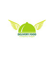 delivery food logo for fast service vector image