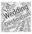 destination weddings Word Cloud Concept vector image vector image