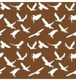 Eagle symbol set seamless pattern EPS 10 vector image