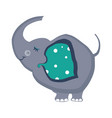 elephant funny alphabet animal vector image vector image