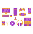 gadget object electronic tools with various vector image vector image