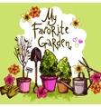 Garden Sketch Set vector image vector image