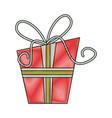 Gift box with ribbon icon image