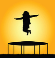 girl jump in nature vector image