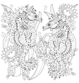 Hand drawn doodle outline seahorse vector image vector image
