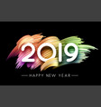 happy new year 2019 festive poster with pastel vector image vector image