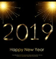 happy new year or christmas greeting card vector image vector image