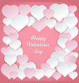 happy valentines day romantic postcard with paper vector image vector image