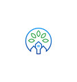 house green ecology logo vector image vector image