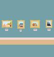 interior art gallery vector image vector image