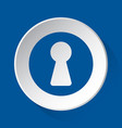 keyhole - simple blue icon on white button vector image