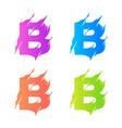 letter b logo template design vector image vector image