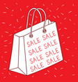 make shoppers happy and want to buy in the holiday vector image