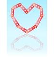 metal constructing heart vector image vector image