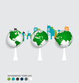 Modern infographics template style modern globe vector image vector image
