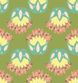 Multicolored seamless pattern with floral elements vector image vector image