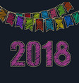 new year festive background 2018 vector image
