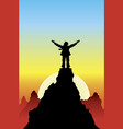 on top of success vector image vector image