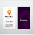 Photo Ideas Abstract Logo and Business Card vector image