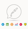 pipette icon laboratory analysis sign vector image