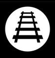 railway track icon design vector image vector image