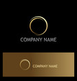 round ring abstract gold logo vector image