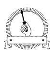 screwdriver labour day celebration emblem vector image
