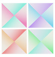 set abstract pyramid colorful background vector image