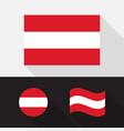 set austria flag flat design vector image vector image